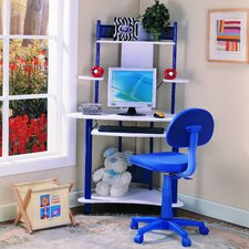 "<strong>InRoom Designs</strong> 39"" W Computer Desk with Keyboard Tray"