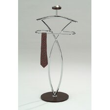 Wood and Metal Suit Valet Stand