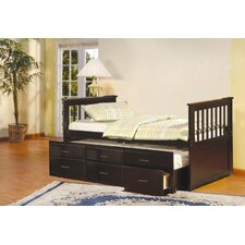 <strong>InRoom Designs</strong> Scout Twin Captain Bed with Trundle