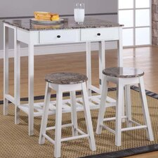 Breakfast 3 Piece Dining Table Set