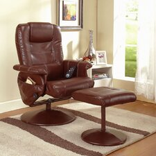 Reclining Massage Chair and Ottoman