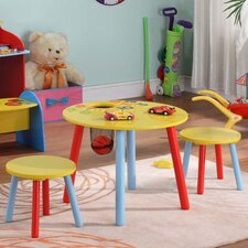 <strong>InRoom Designs</strong> Kids' 3 Piece Table and Stool Set