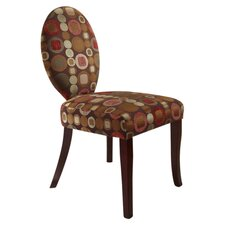 Circle Slipper Fabric Side Chair
