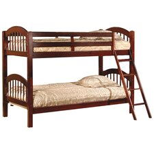 Twin Arched Bunk Bed with Built-In Ladder