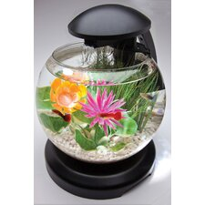Tetra Waterfall Globe Aquarium Kit in Black - 1.8 Gallon