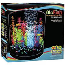 <strong>Tetra</strong> Glofish 3 Gallon Half Moon Bubbler Aquarium Kit