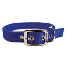 Double Thick Nylon Deluxe Dog Collar in Blue