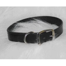 Creased Leather Collar in Black