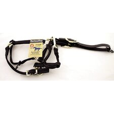 Reflective Adjustable Halter with Leather Head Poll