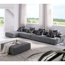 Modern Zebrano Sectional Sofa