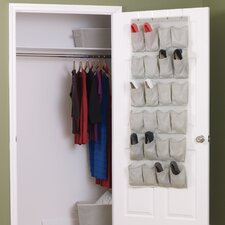Tea and Fog 24-Pocket Over-The-Door Shoe Organizer