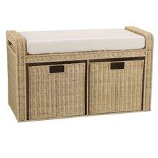 Rattan Natural-Storage Seat