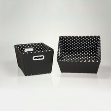 2 Piece Mini Dot Tapered Bins Set