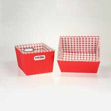 2 Piece Dot Tapered Bins Set