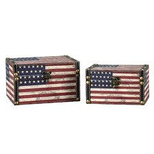 2 Piece American Flag Design Box Set (Medium & Small)