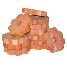 Solid Cedar Flower Ring for Hangers (Pack of 6) (Set of 2)