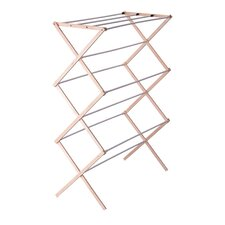 Wood Drying Rack with Vinyl Dowels in White