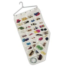 <strong>Household Essentials</strong> Storage and Organization Jewellery Organizer with Aluminium Hanger