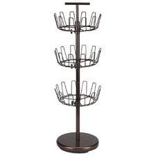 <strong>Household Essentials</strong> Storage and Organization 3 Tier Revolving Shoe Tree