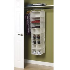 Storage and Organization 10 Pocket Shoe with 3 Shelf Sweater Organizer