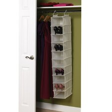 "Storage and Organization 8"" Deep 10-Pocket Wide Hanging Organizer"
