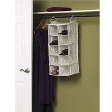 Storage and Organization 10 Pocket Double Hang Shoe Organizer