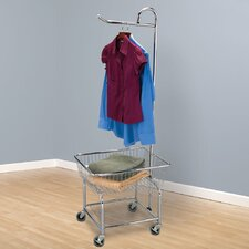 "<strong>Household Essentials</strong> Laundry Butler with 3"" Wheels in Chrome"