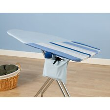 Ultra Reversible Ironing Board Cover in Caribbean Blue Stripe and Baby Blue