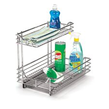 "<strong>Household Essentials</strong> Glidez 12.5"" Under Sink Sliding Organizer KD in Chrome"
