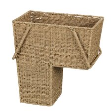 <strong>Household Essentials</strong> Seagrass Stair Basket with Handle