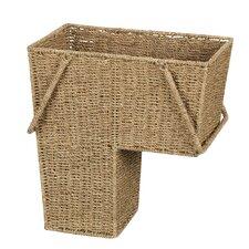 Wicker Sea Grass Stair Basket