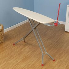 Deluxe Rectangle Four Leg Ironing Board in Satin Silver
