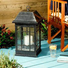 San Rafael Mission Solar Pillar Candle Lantern