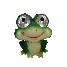 Garden Pals Solar Frog Light Statue (Set of 2)