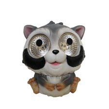<strong>Smart Solar</strong> Garden Pals Solar Raccoon Light Statue (Set of 2)