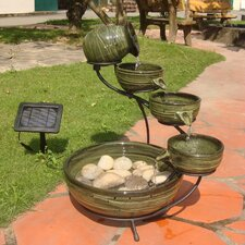 Solar Water Features Ceramic Fountain