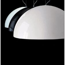 <strong>Oluce</strong> Sonora Suspension Lamp in Black/Painted White