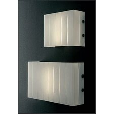 "<strong>Oluce</strong> Pin Stripe 2 Light 11.8"" Wall Lamp"