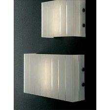 "<strong>Oluce</strong> Pin Stripe 2 Light 19.2""  Wall Lamp"