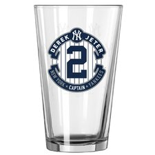 New York Yankees Derek Jeter Retirement Pint Glass