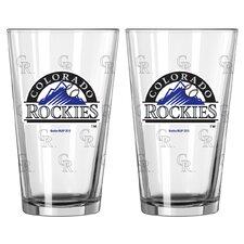 MLB Pint Glass Cup (Set of 2)