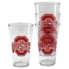 NCAA Plastic Pint Cup (4 Pack) - Ohio State University Buckeyes