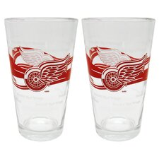NHL Pint Glass Cup (Set of 2)