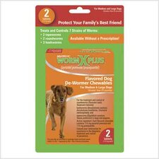 Worm X Plus Chewable for Large Dogs (2 Tablet)