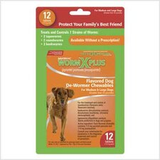 Worm X Plus Chewable for Large Dogs (12 Tablet)