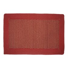 Border Tweed Barn Red Rug