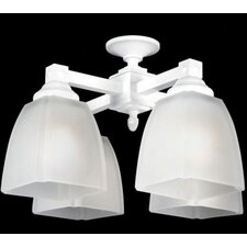 Shaker Four Light Branched Ceiling Fan Light Kit