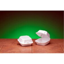 Foam Sandwich Hinged Large Container with 1 Compartment in White