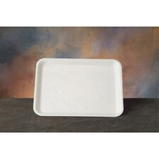 Foam Supermarket Tray in White, 125/Bag