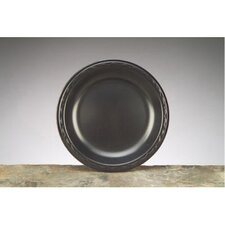 "8.88"" Elite Laminated Foam Round Plates in Black"